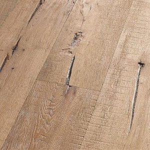 Geborsteld eiken houten vloer