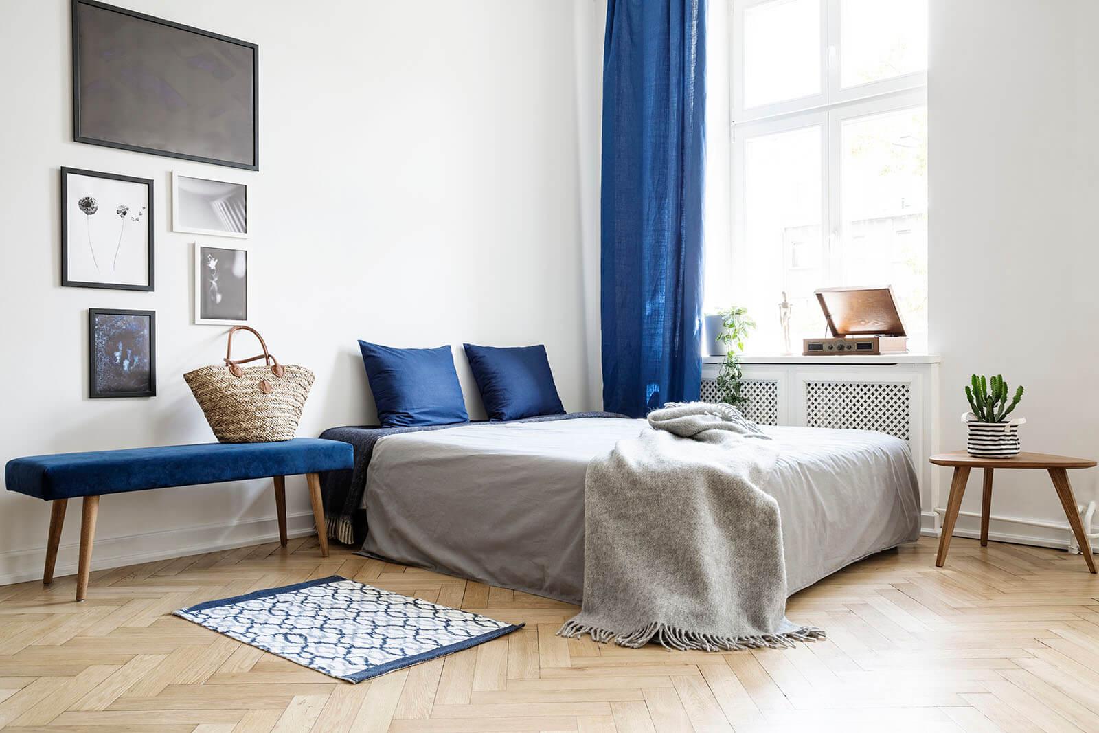 Lamelparket in slaapkamer